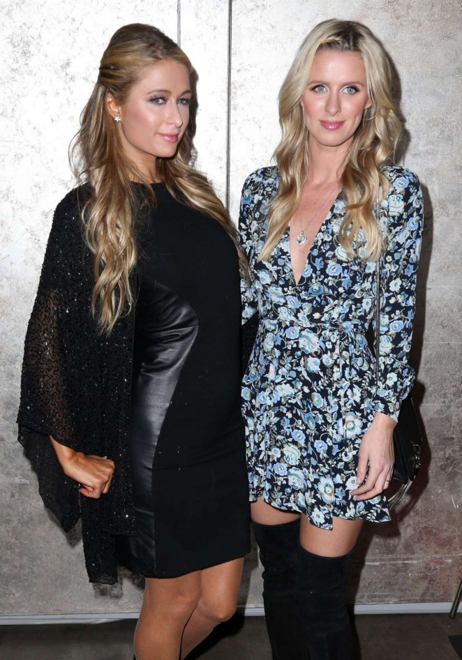 Paris and Nicky Hilton: DuJour Magazine Spring Cover Party -03