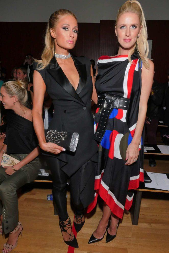 Paris and Nicky Hilton - Monse show, Spring Summer 2018, New York Fashion Week 2017