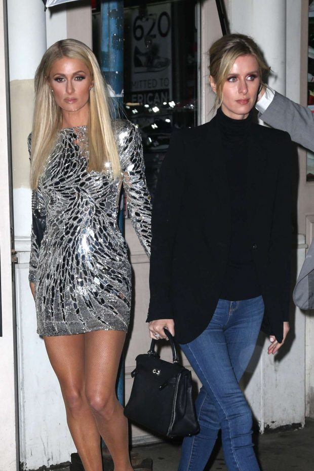 Paris and Nicky Hilton - Night out in New York
