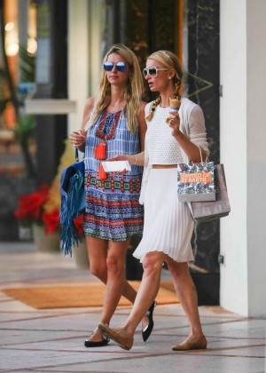 Paris and Nicky Hilton - Shopping in St. Barts