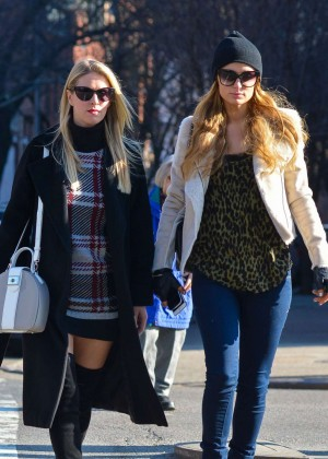 Paris and Nicky Hilton - Shopping Together in New York City