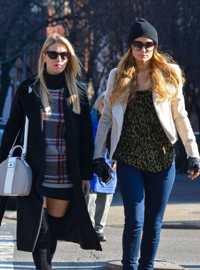 Paris and Nicky Hilton – Shopping Together in New York City