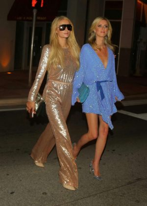 Paris and Nicky Hiton - Night out in Miami