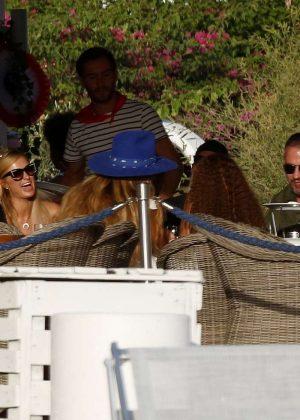 Paris Hilton and boyfriend Chris Zylka out in Ibiza