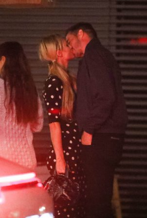 Paris Hilton and Carter Reum - Out at dinner at Nobu in Malibu