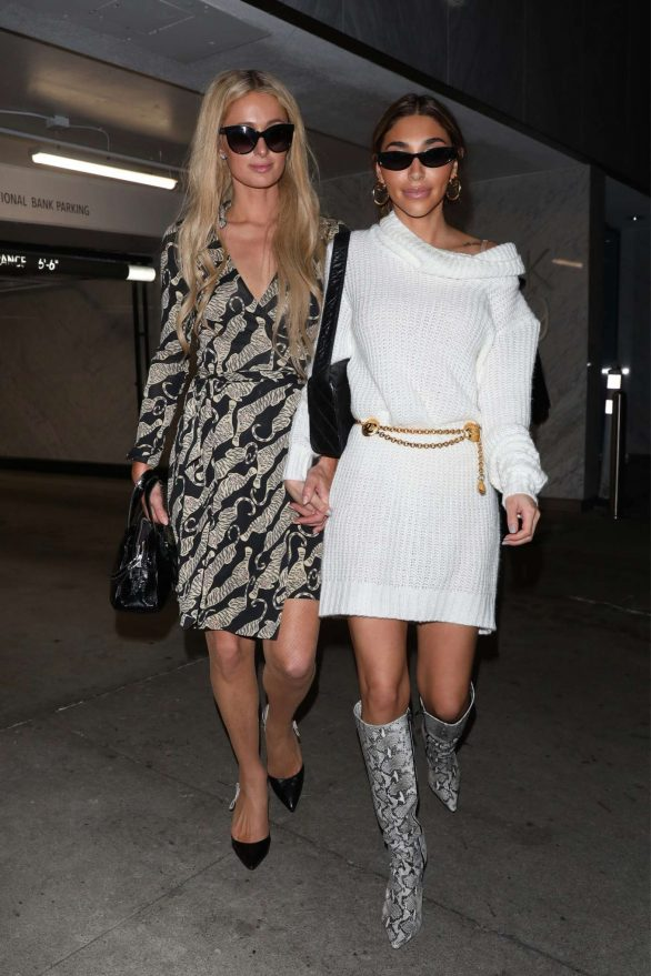 Paris Hilton and Chantel Jeffries - Leave Bootsy Bellows in West Hollywood