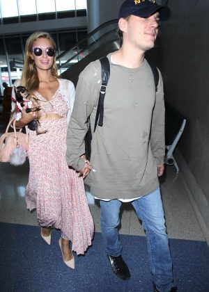 Paris Hilton and Chris Zylka at LAX Airport in Los Angeles