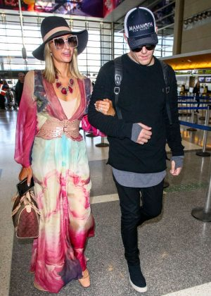 Paris Hilton and Chris Zylka at LAX International Airport in Los Angeles