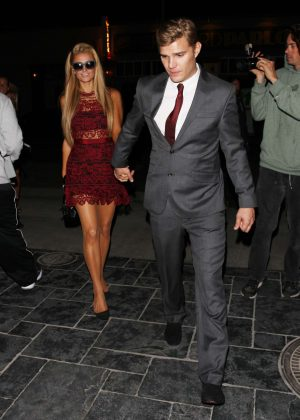 Paris Hilton and Chris Zylka at Tao night club in Hollywood