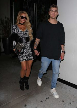 Paris Hilton and Chris Zylka Leaving Catch in West Hollywood