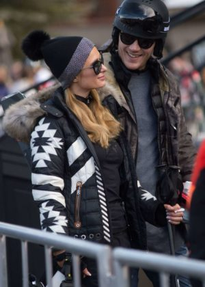 Paris Hilton and Chris Zylka Out in Aspen