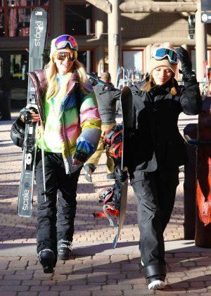 Paris Hilton and Sofia Richie - Hitting the slopes in Aspen