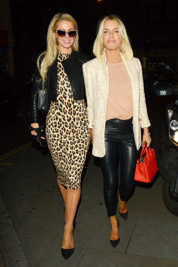 Paris Hilton - Arrives at Chiltern Firehouse in London