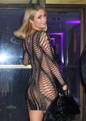 Paris Hilton - Arrives at Rihanna's 30th Birthday Party in New York City
