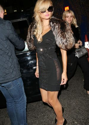 Paris Hilton - Arrives at Tape Nightclub in London
