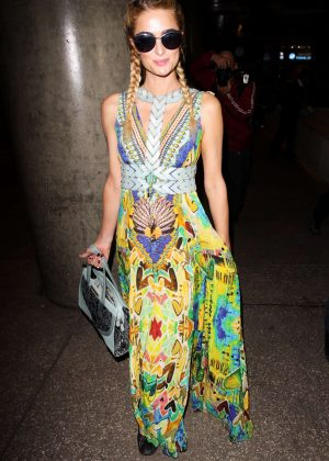 Paris Hilton Arrives at the Los Angeles International Airport
