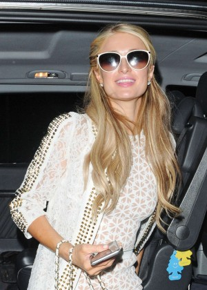 Paris Hilton: Arriving at Euston Station -07
