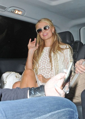 Paris Hilton: Arriving at Euston Station -08