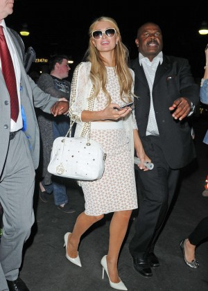 Paris Hilton: Arriving at Euston Station -15