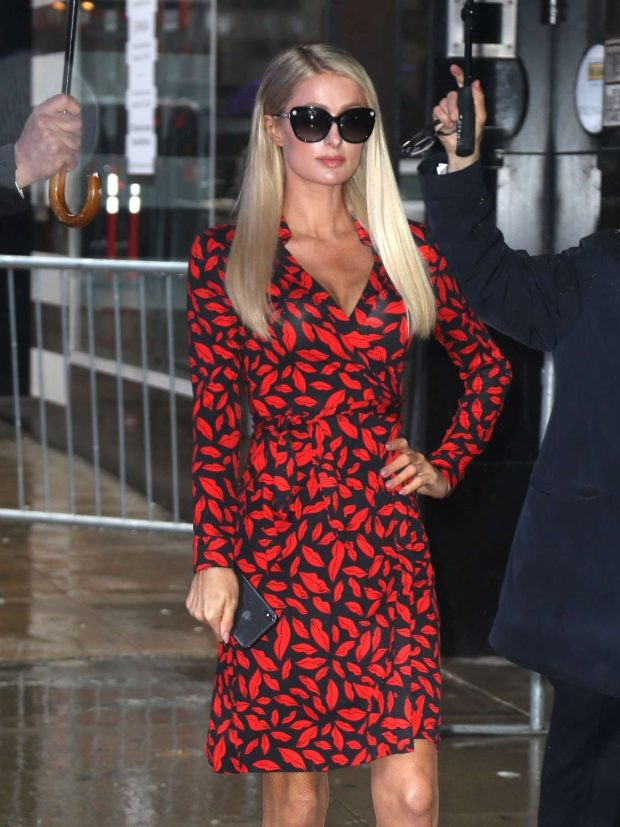 Paris Hilton - Arriving at Good Morning America in New York