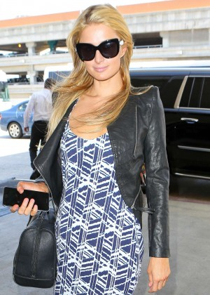 Paris Hilton - Arriving at LAX Airport in LA
