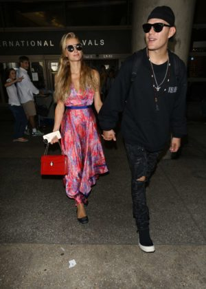 Paris Hilton - Arriving at LAX Airport