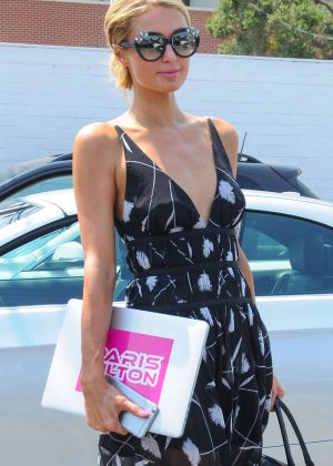 Paris Hilton at a hair salon in West Hollywood