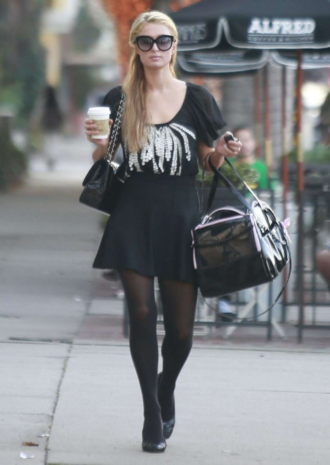 Paris Hilton at Alfred Coffee & Kitchen in West Hollywood