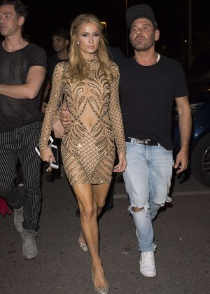 Paris Hilton at Gotha Nightclub in Cannes