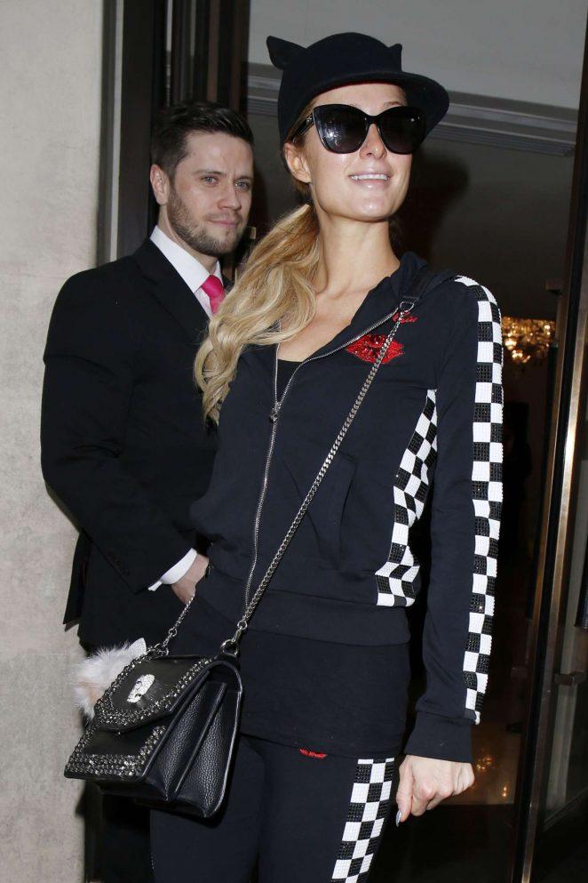 Paris Hilton at Heathrow Airport in London