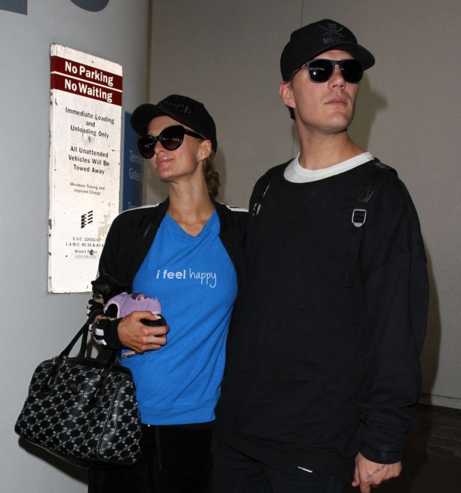 Paris Hilton at Los Angeles International Airport