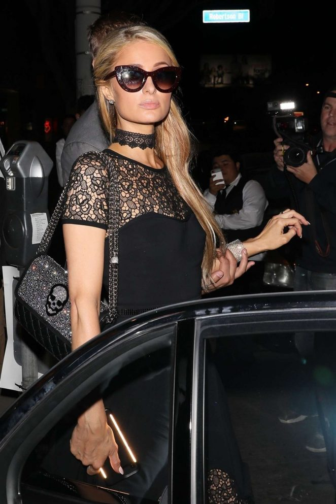 Paris Hilton at Maddox Gallery opening event in Los Angeles