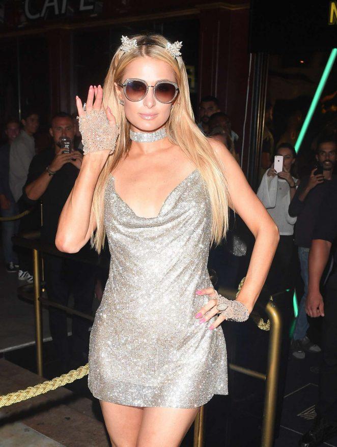 Paris Hilton at Mirage nightclub in Puerto Banus