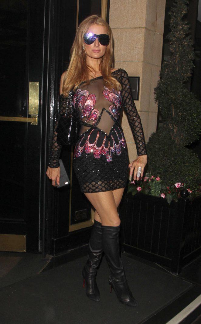 Paris Hilton at OURS Restaurant -02
