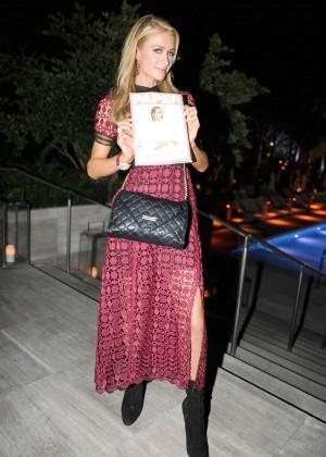 Paris Hilton at Paper Mag Dinner in Miami