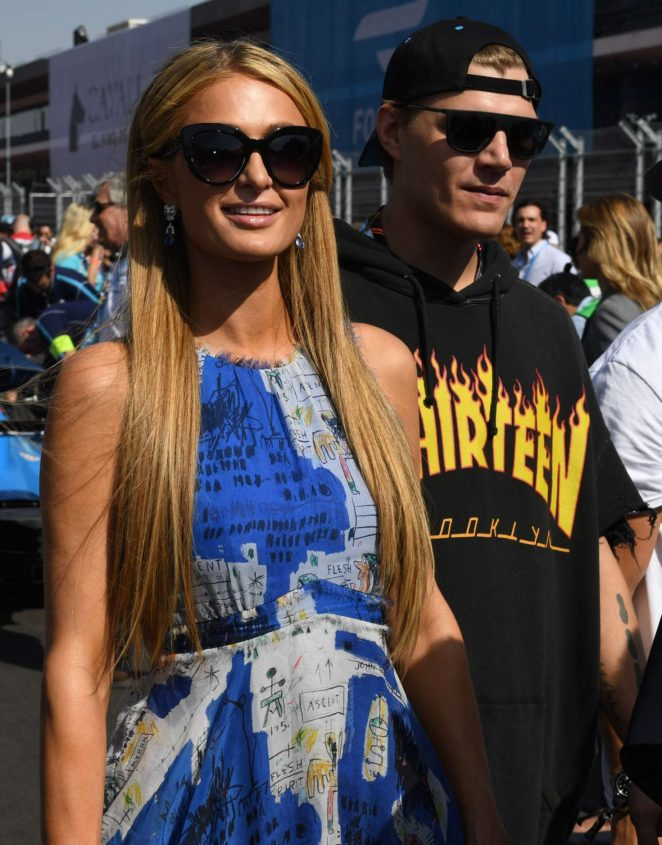 Paris Hilton at the FormulaE event in Mexico