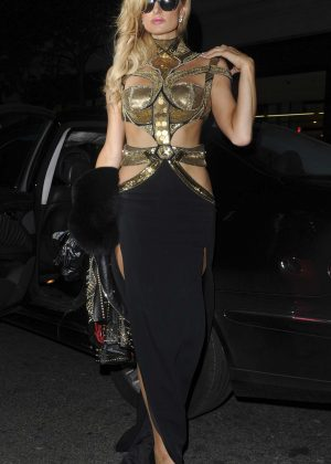 Paris Hilton at The Mayfair Hotel in London