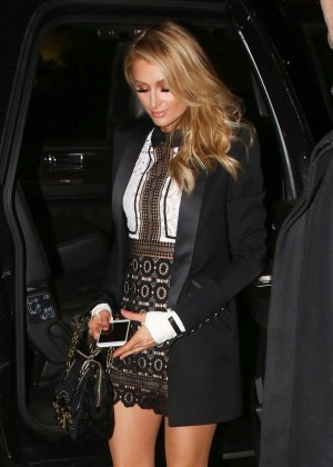 Paris Hilton at The Palm Restaurant in Beverly Hills