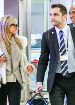 Paris Hilton at the Zurich Airport