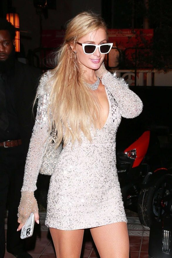 Paris Hilton - Attends a party at SLS Hotel in Miami