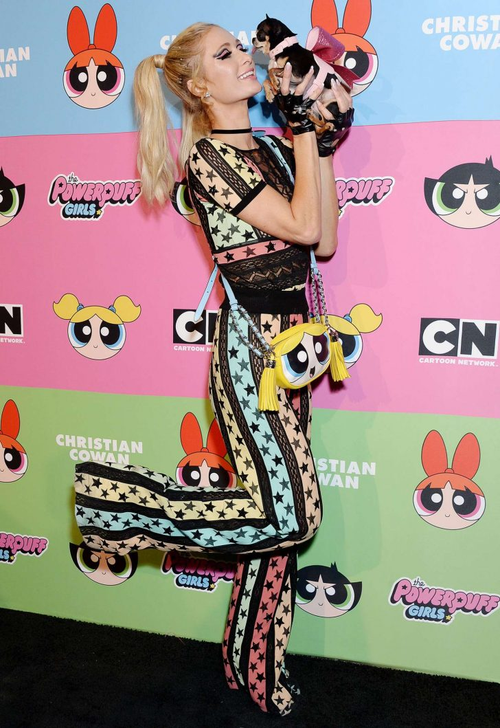 Paris Hilton: Christian Cowen x The Powepuff Girls Runway Show -03