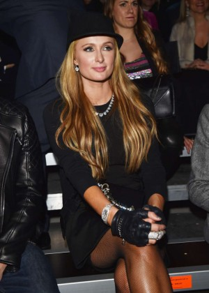 Paris Hilton - Dsquared2 Show at Milan Menswear Fashion Week Fall-Winter 2015/2016