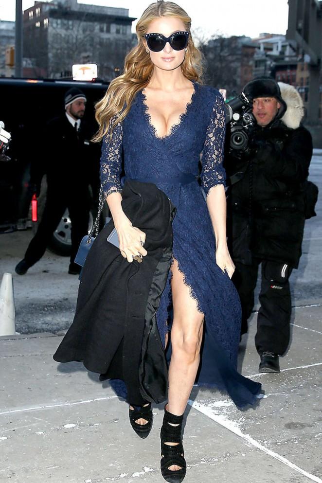 Paris Hilton - DVF Fashion Week 2015 in NYC