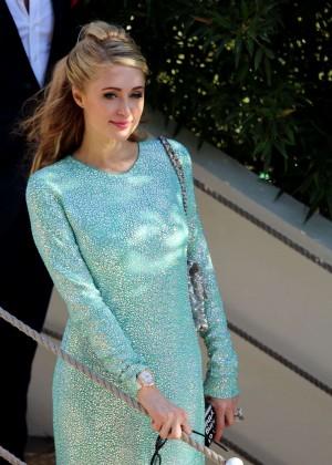 Paris Hilton - Grand Journal Tv Show in Cannes