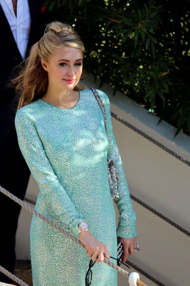 Paris Hilton – Grand Journal Tv Show at 68th Cannes Film Festival