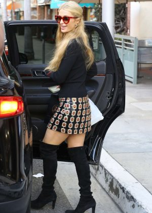 Paris Hilton in Mini Skirt out shopping -09 - GotCeleb