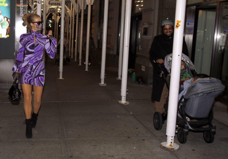 Paris Hilton 2020 : Paris Hilton – In tight dress nightout in NYC-03