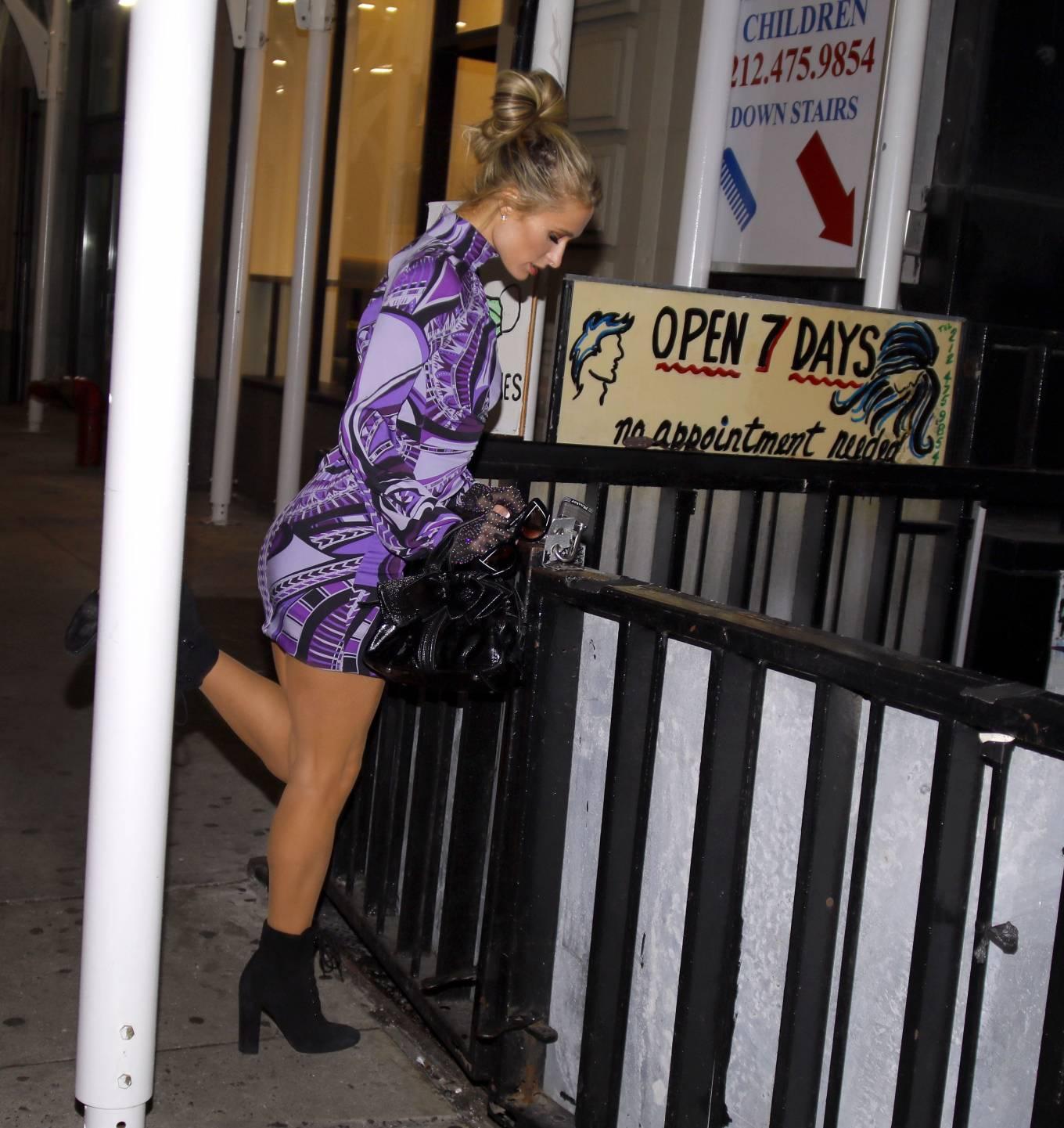 Paris Hilton 2020 : Paris Hilton – In tight dress nightout in NYC-04