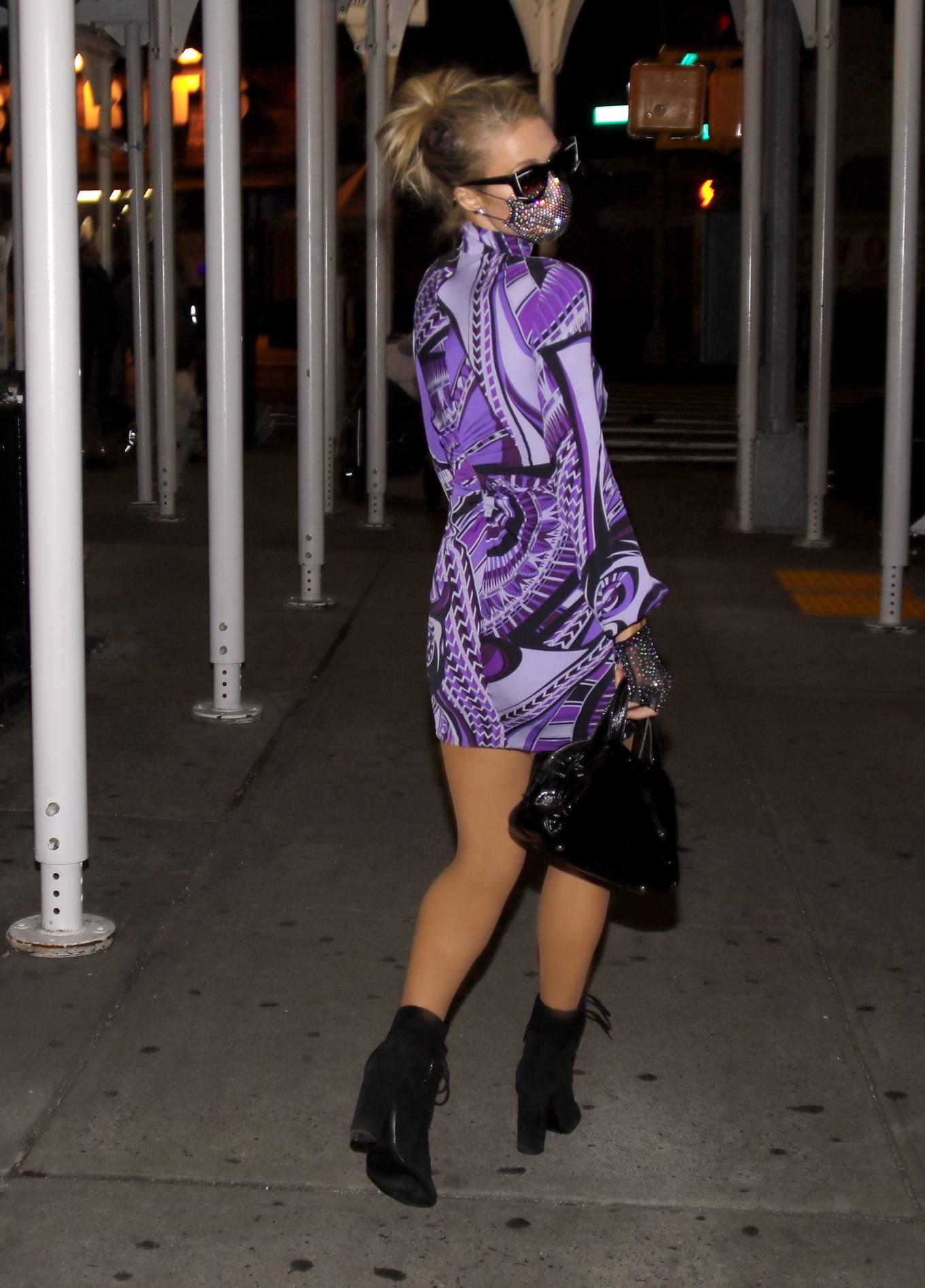 Paris Hilton 2020 : Paris Hilton – In tight dress nightout in NYC-08