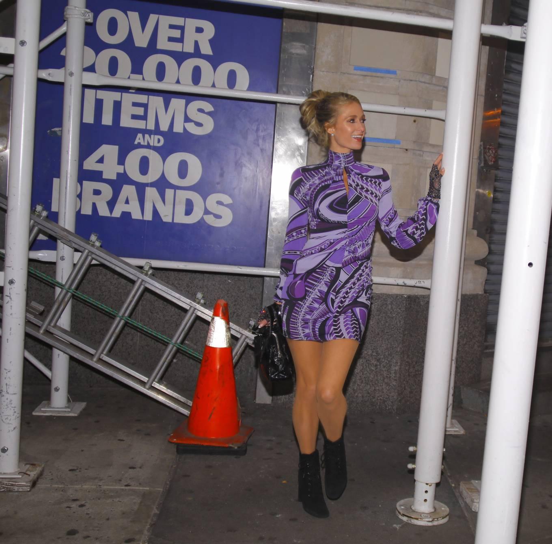 Paris Hilton 2020 : Paris Hilton – In tight dress nightout in NYC-10